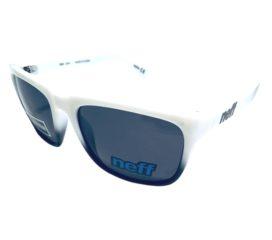 Neff Headwear Chip Sunglasses - Classic Style Shades - White & Black Fade - Gray Lens