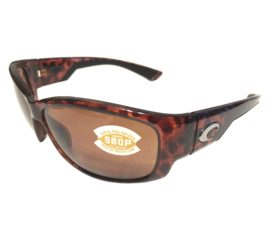Costa Del Mar Luke Sunglasses - Tortoise Frame - Polarized Copper 580P Lens
