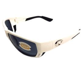 Costa Del Mar Tuna Alley Sunglasses - White Frame - POLARIZED Gray 580P