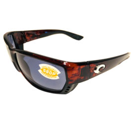Costa Del Mar Tuna Alley Sunglasses - Tortoise Frame - POLARIZED Gray 580P