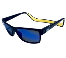 Hoven Monix Sunglasses - Floatable CliC Tech - Black Gloss Yellow- Polarized Tahoe Blue