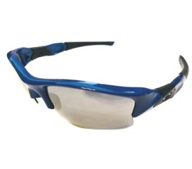 Oakley Flak Jacket XLJ Sunglasses MPH - Team Blue Frame - Black Iridium Lens OO9009-2963