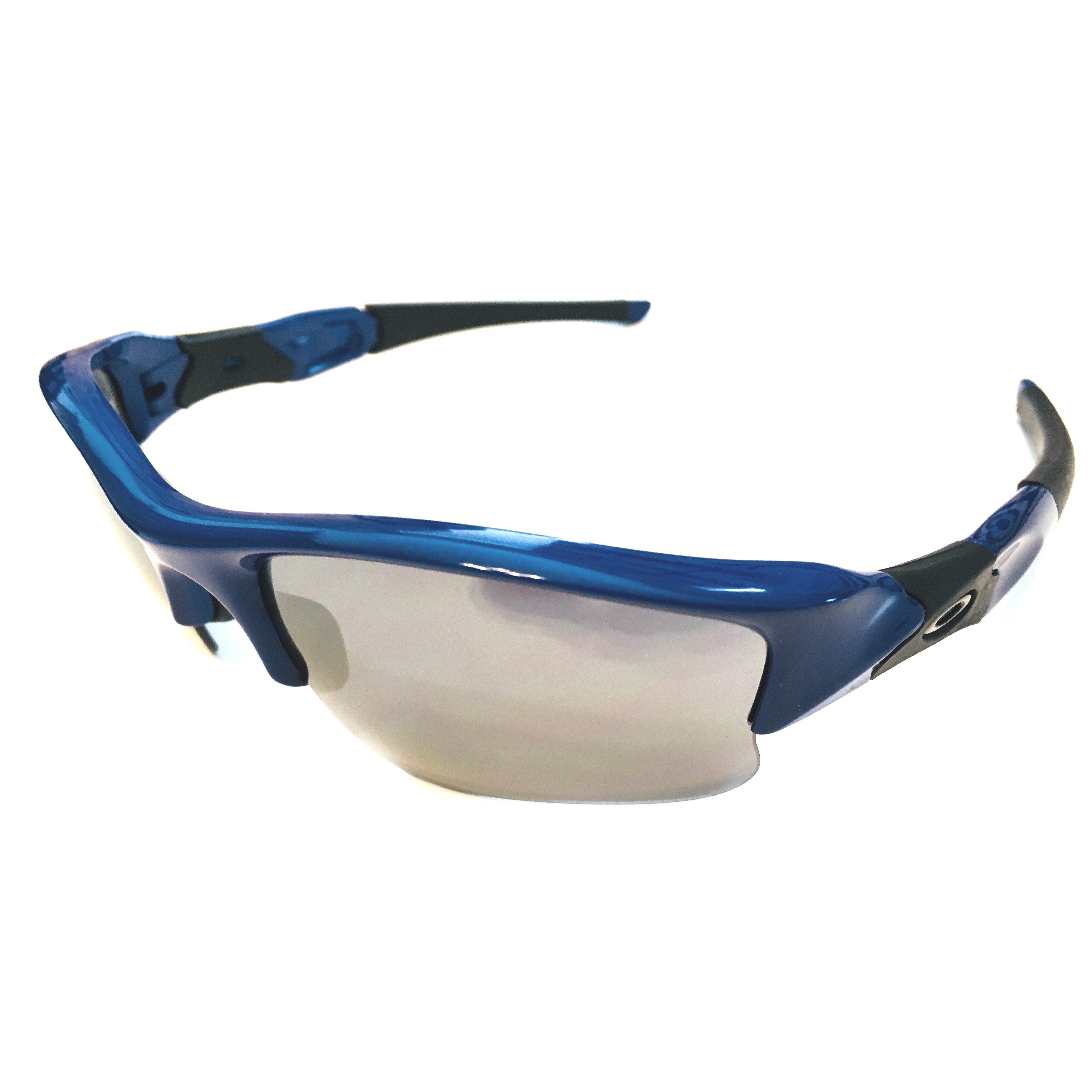 Flak Jacket Xlj >> Oakley Flak Jacket XLJ Sunglasses MPH – Team Blue Frame – Black Iridium Lens OO9009-2963 ...