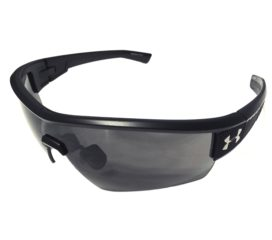 Under Armour Fire Sunglasses UA - Satin Matte Black Titanium & Grilamid® Frame - Gray Lens