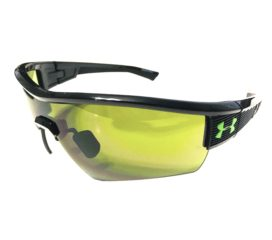 Under Armour Fire Sunglasses UA - Gloss Shiny Black Frame - Game Day Lens