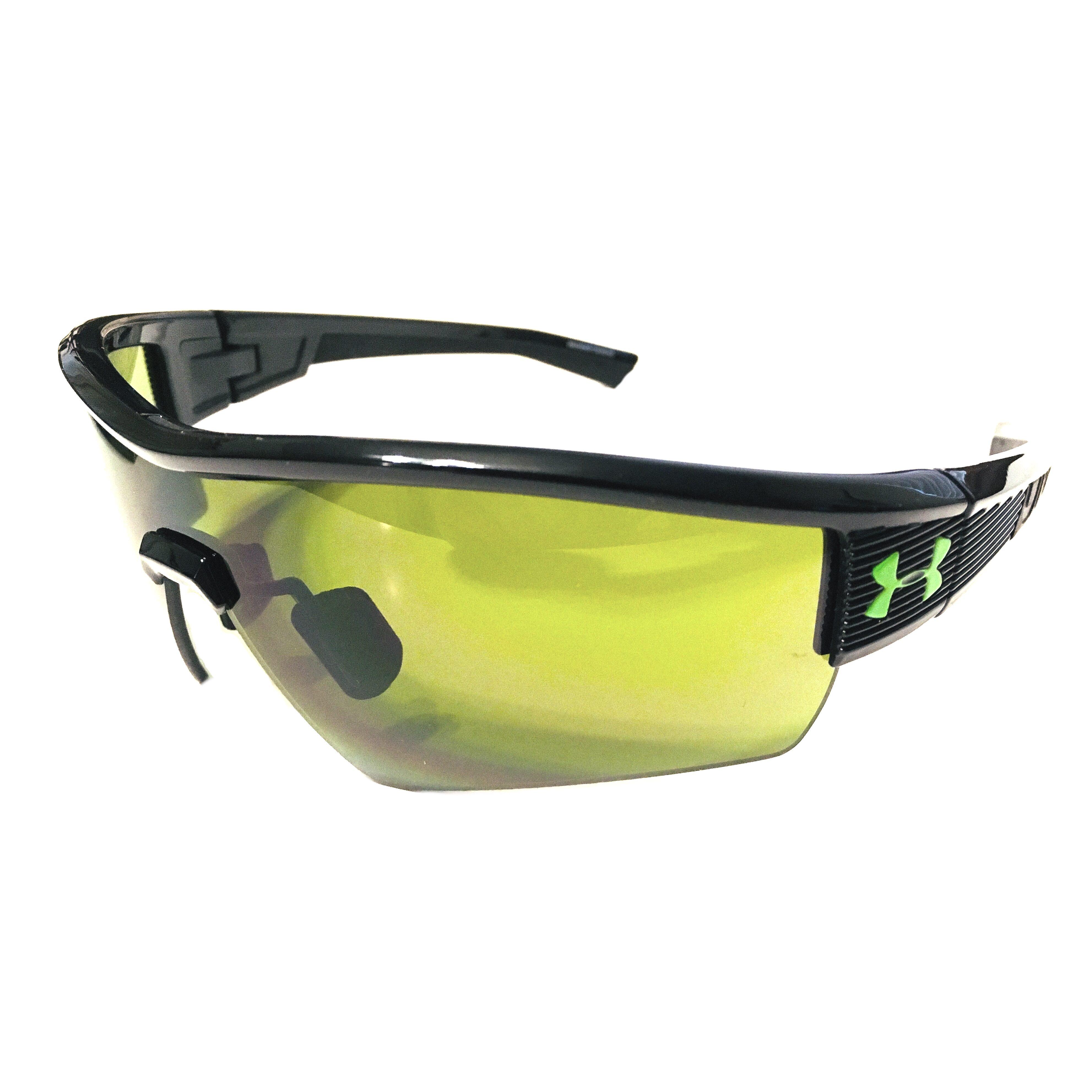 Under Armour Fire Sunglasses UA - Gloss Shiny Black - Game Day Lens
