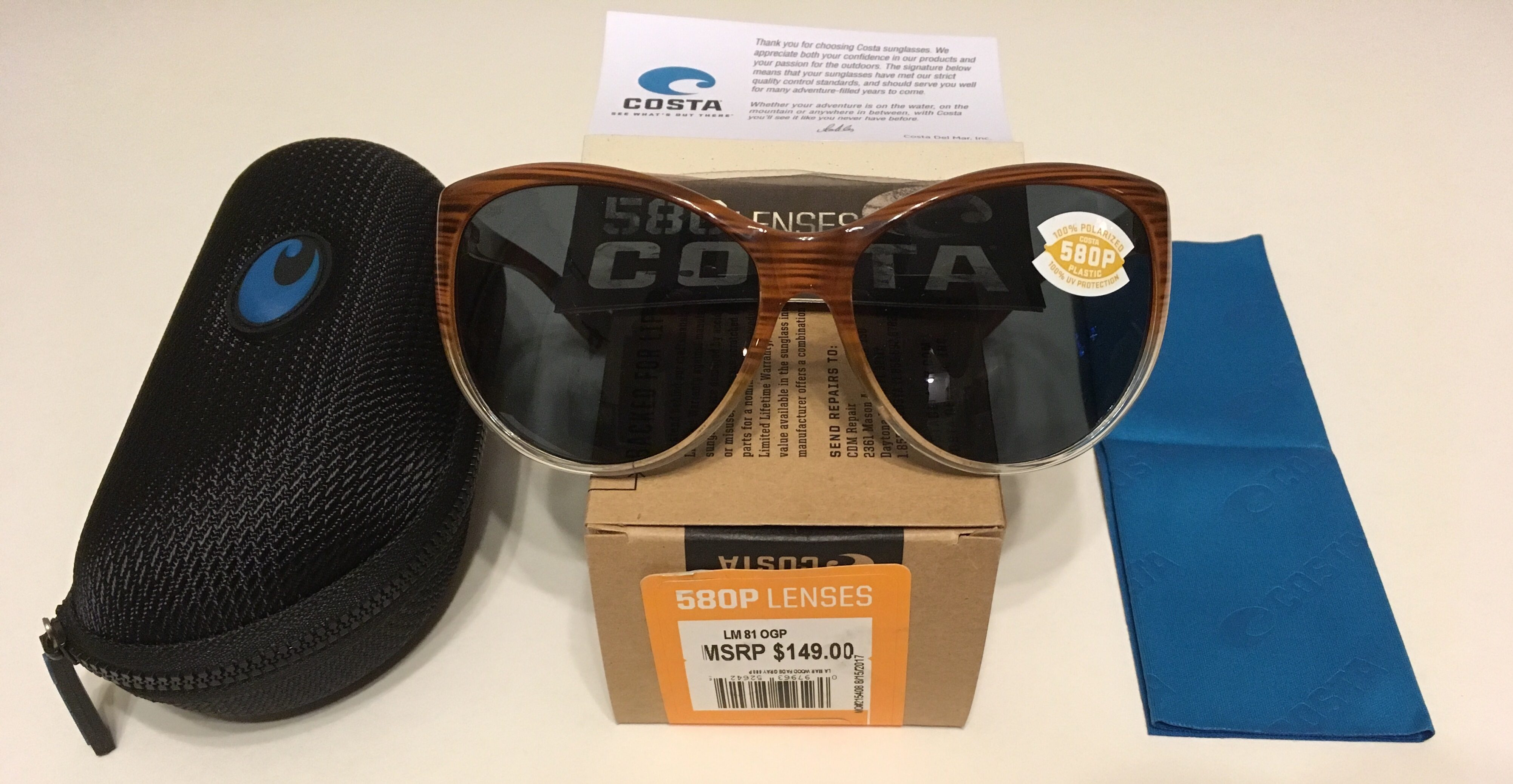 91c55c51c4 Costa Del Mar La Mar Sunglasses – Wood Fade Frame – Polarized Gray ...
