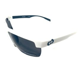 Native Eyewear Linville Sunglasses - Snow White Semi-Rimless Frame - Polarized N3 Gray Lens
