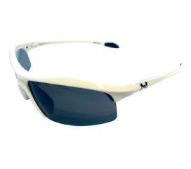 Under Armour Zone Sunglasses UA Shiny White Frame - Gray Lens 8600010-5201