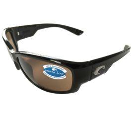 Costa Del Mar Luke Sunglasses - Shiny Black Frame - Polarized Amber Lens 400P