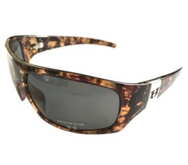 Hoven Vision Easy Sunglasses - Emerald Tortoise Frame - Polarized Gray Lenses