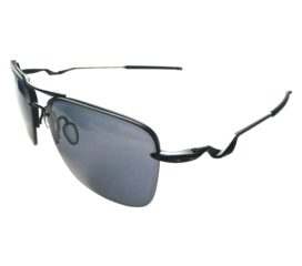 Oakley Tailhook Aviator Style Sunglasses - Satin Black Frame - Grey Lens OO4087-01