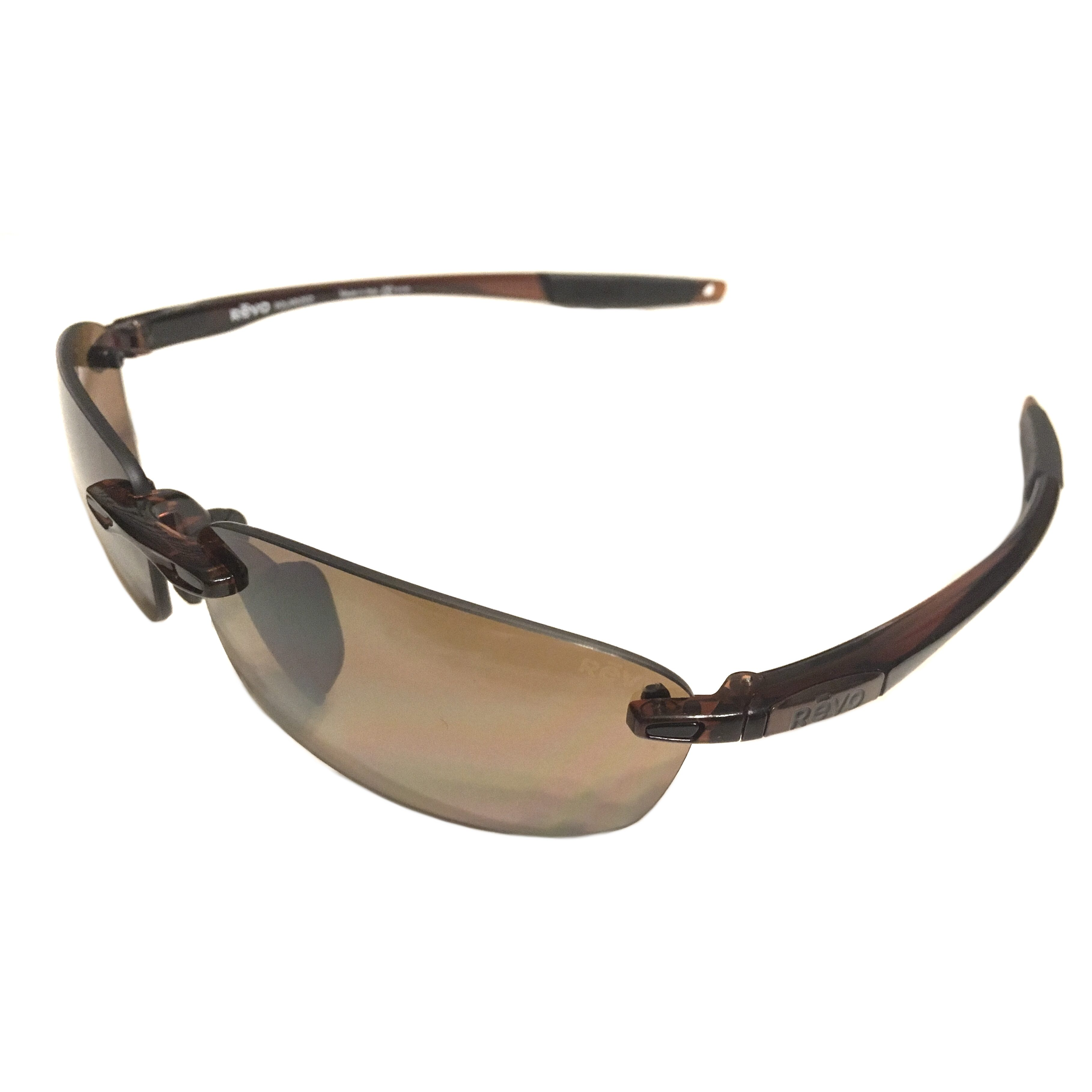 900493b0416 Revo Descend E Sunglasses - Crystal Brown Rimless Frame - Polarized Terra  RE4060GF 02 BR Lens