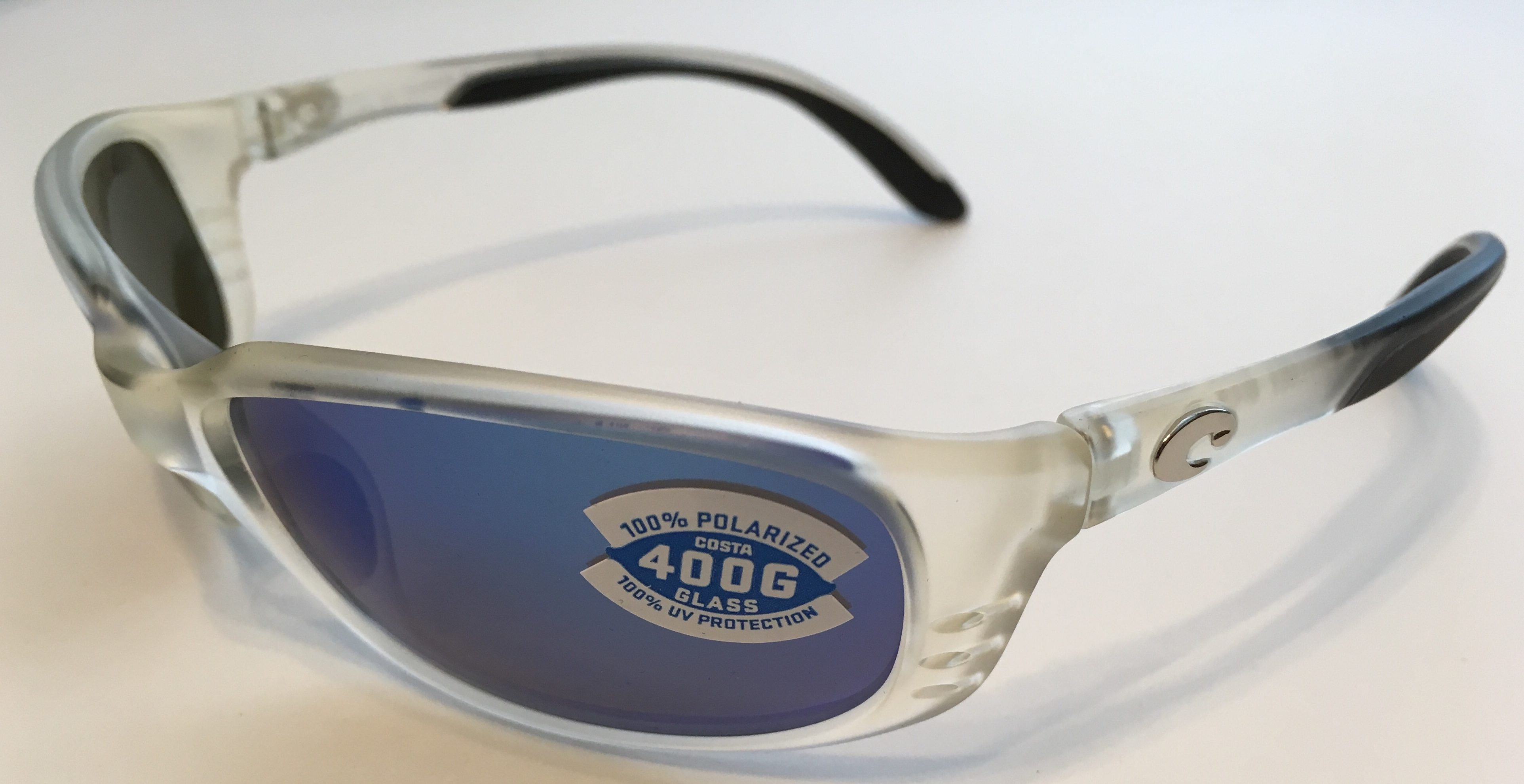 90eebd2ea2a1 Costa Del Mar Brine Sunglasses - Matte Crystal - POLARIZED Blue Mirror 400G