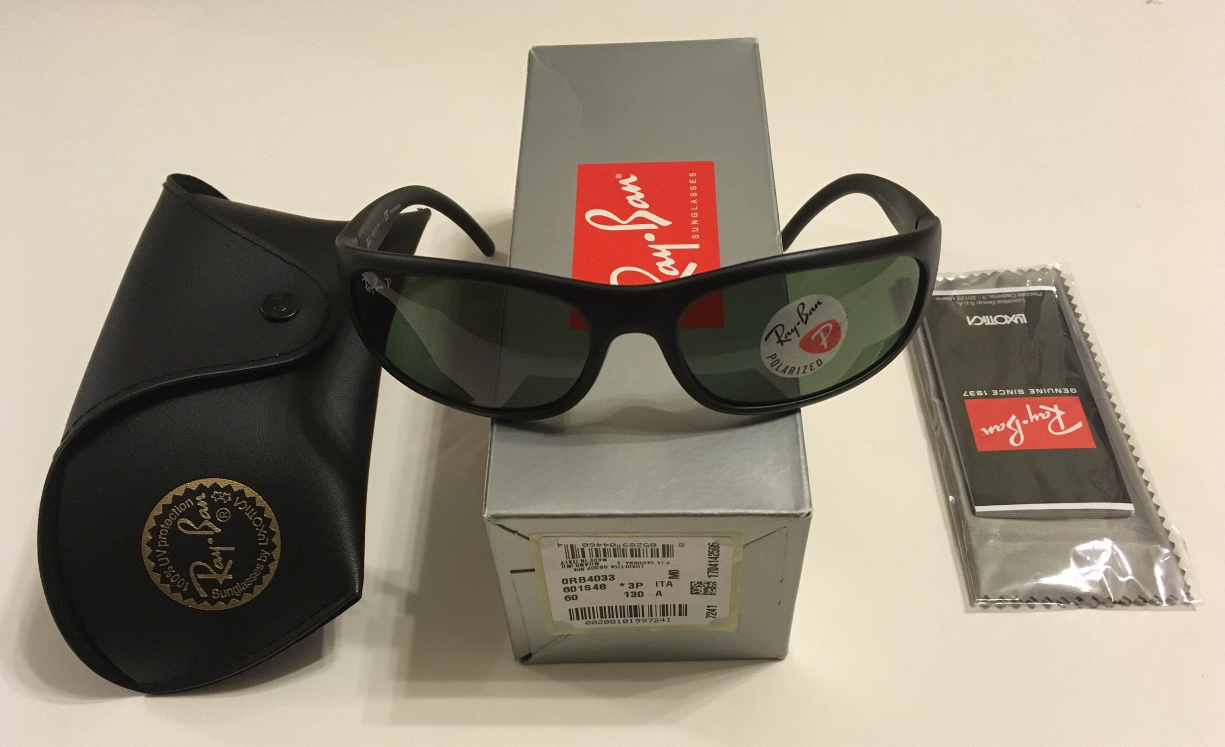 41d2cc8db481 Ray-Ban Predator Sunglasses – Black Frame – Polarized G-15 Green Lens RB4033