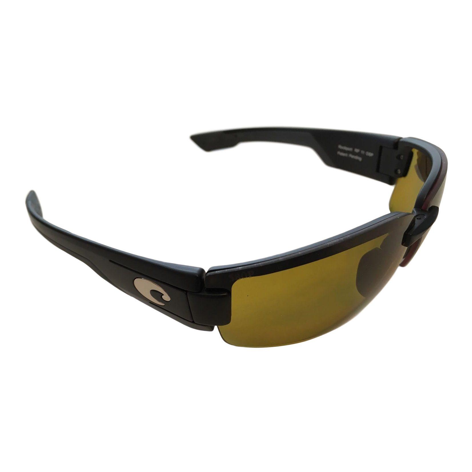 6af72b73d8db1 Costa Del Mar Rockport Sunglasses - Black Frame - Polarized Sunrise Yellow  Lens 580P