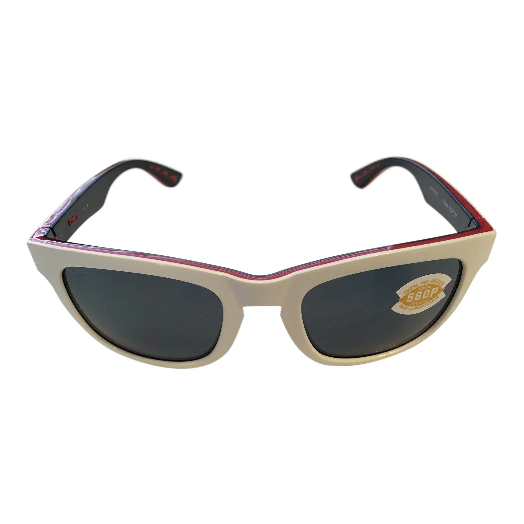 80b032283f Costa Del Mar Copra Sunglasses - USA Red White Blue Frame - Polarized Gray  Lens 580P