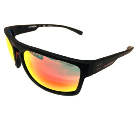 Arnette Brapp Sunglasses - Matte Black Frame - Red Mirror Lens AN4239 01/6Q 62