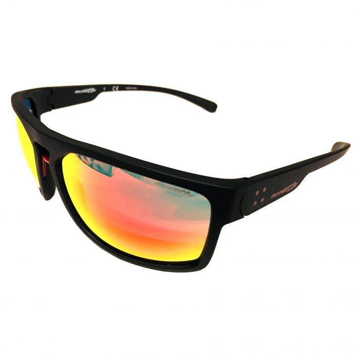Arnette Brapp Sunglasses - Matte Black Frame - Red Mirror AN4239 01/6Q 62