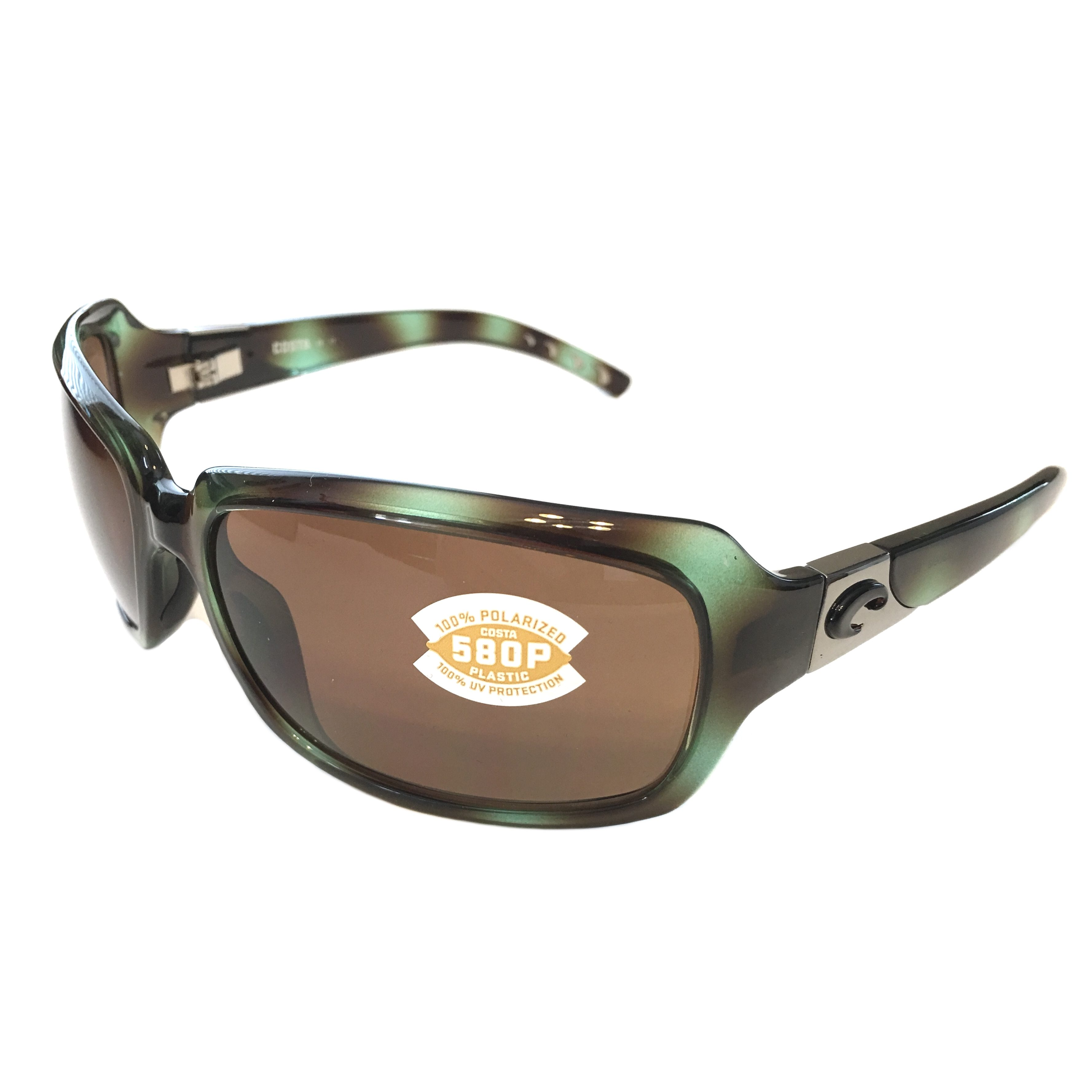 706bb66e810 Costa Del Mar Isabela Sunglasses - Shiny Seagrass Green POLARIZED Amber 580P