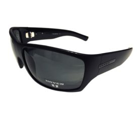 Hoven Vision Times Sunglasses ANSI Compliant - Matte Black Frame - Polarized Gray Lens