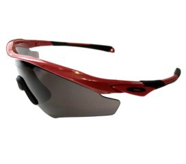 Oakley M2 XL Sunglasses - Asian Fit - Redline Red Frame  - Warm Grey Lens OO9345-02
