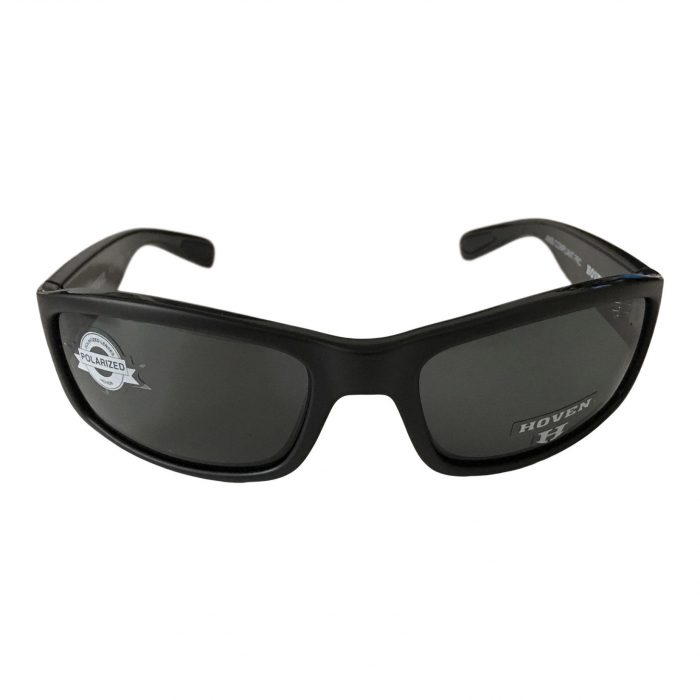 Hoven Vision Highway Sunglasses - ANSI Compliant - Matte Black Frame Polarized Grey Lens