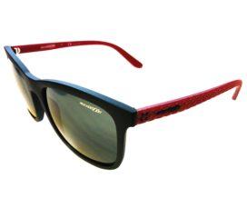 Arnette Chenga Sunglasses - Black & Red Frame - Green Lens AN4240-250671