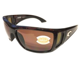 Costa Del Mar Bomba Sunglasses - Tortoise Frame - Polarized Copper 580P Lens