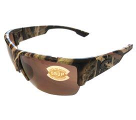 Costa Del Mar Hatch Sunglasses - Mossy Oak SGB Camo Frame - Polarized Copper Lens 580P