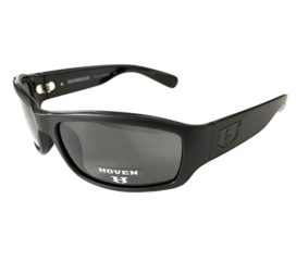 Hoven Vision Highway Sunglasses - ANSI Compliant - Matte Black Frame Polarized Gray Lens