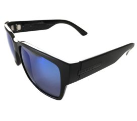 Hoven Vision Mosteez Sunglasses ANSI Compliant Matte Black Frame - Polarized Tahoe Blue