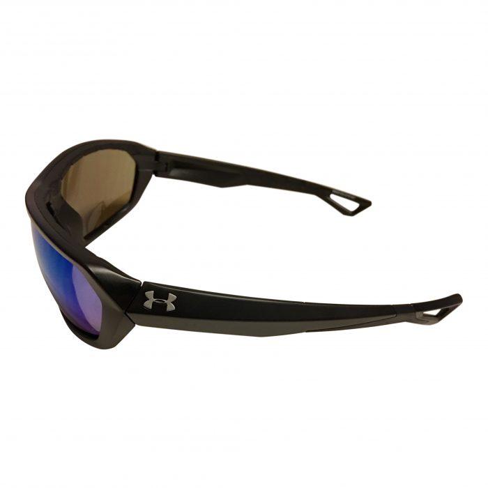 Under Armour Rage Sunglasses UA - Satin Black Frame - Blue Multi Lens