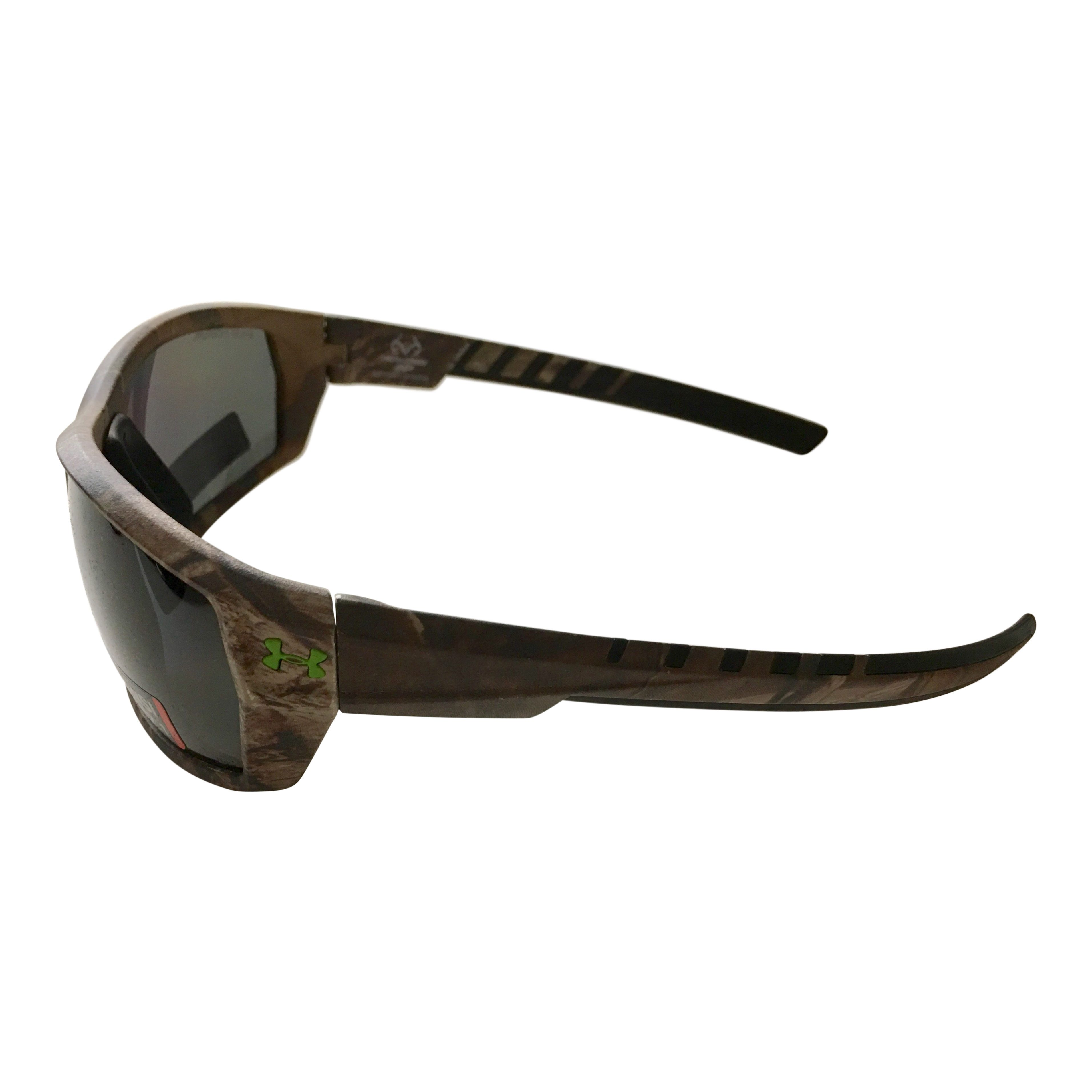 0f49e63b062 Under Armour Ranger Sunglasses UA Satin Realtree Camo POLARIZED Gray Storm