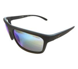 Arnette Sandbank Sunglasses - Matte Black Frame - Blue Mirror AN4229 01/25 Lens