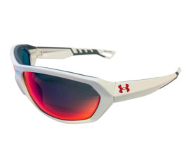Under Armour Rage Sunglasses UA - Satin White Frame - Infrared Multi Mirror Lens