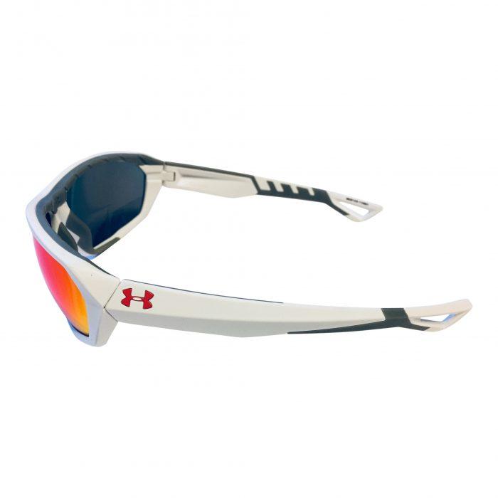 NEW Under Armour Rage Sunglasses UA - Satin White Frame - Infrared Multi Mirror