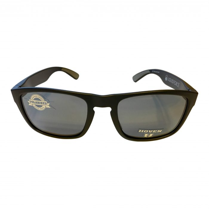 Hoven Vision Lunchbox Liquid Force Sunglasses - Matte Black - POLARIZED Grey