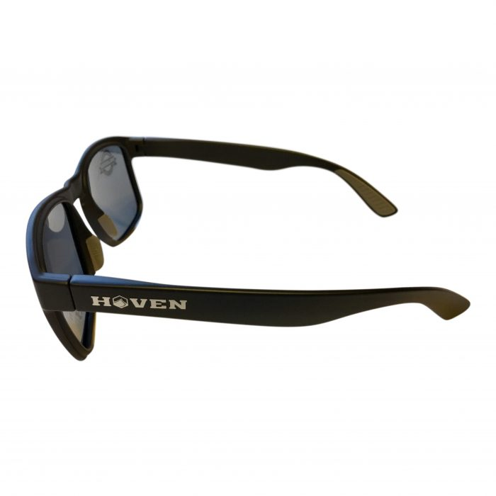 Hoven Vision Lunchbox Liquid Force Sunglasses - Matte Black - POLARIZED Grey