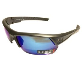 Under Armour Igniter 2.0 Sunglasses UA Satin Carbon POLARIZED Blue Storm