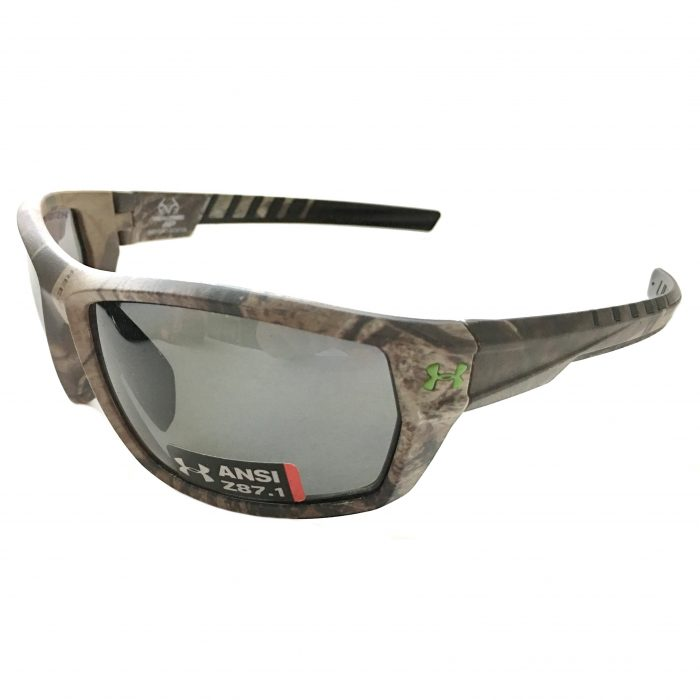 Under Armour Ranger Sunglasses UA Satin Realtree Camo POLARIZED Gray Storm