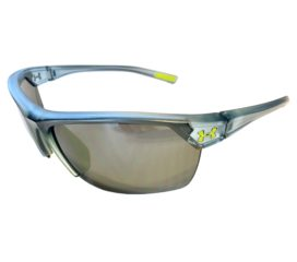 Under Armour Zone 2.0 Sunglasses UA - Satin Crystal Blue Frame - Gray Lens 8600050-177501