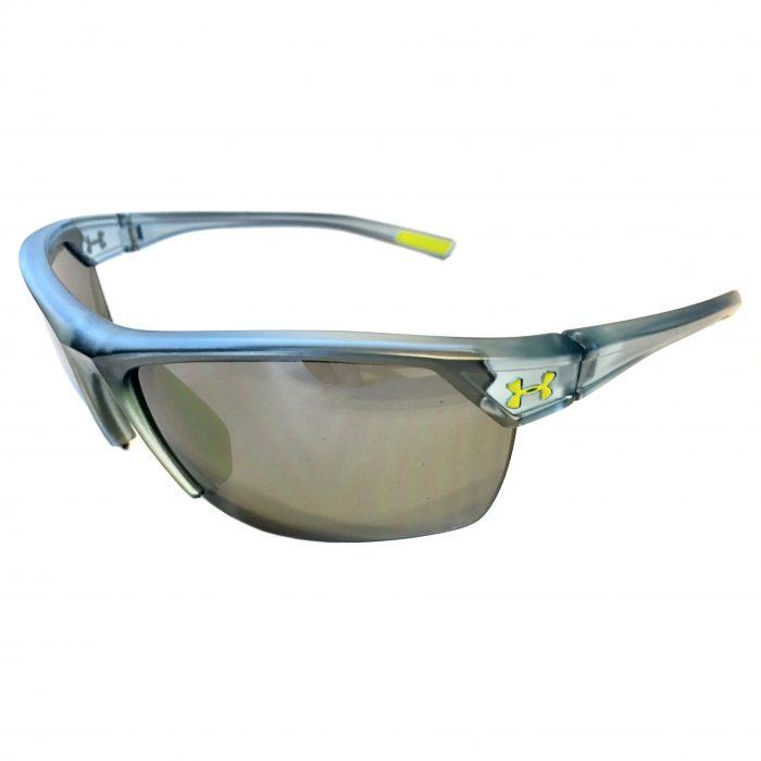 Under Armour Zone 2.0 Sunglasses UA Satin Crystal Blue - Gray 8600050-177501