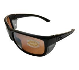 Costa Del Mar Rooster Sunglasses - Matte Blackout Frame Polarized  Silver Mirror 580P Lens