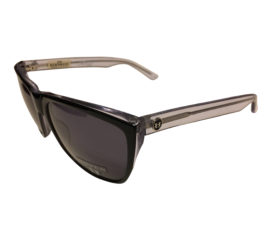 Hoven Vision Katz Sunglasses - Handmade Acetate Black and Clear Frame - Gray Lenses