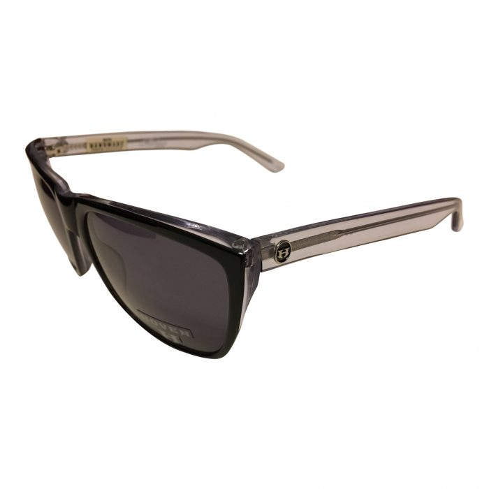 Hoven Vision Katz Sunglasses - Black & Clear Frame - Grey Lenses
