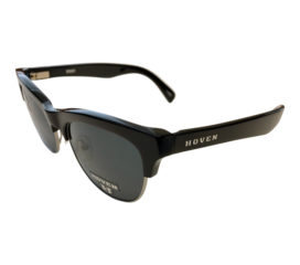 Hoven Vision Eddy Sunglasses - Black Gloss Frame - Polarized Gray Lens