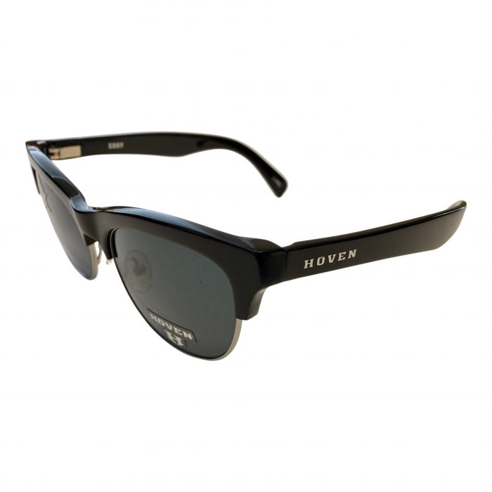 Hoven Vision Eddy Sunglasses - Black Gloss Frame - POLARIZED Grey Lens