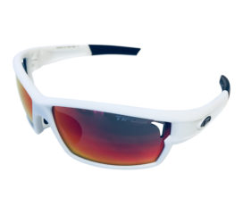 Tifosi Optics Camrock Sunglasses - Matte White Frame - Clarion Red + XTRA Lens Sets