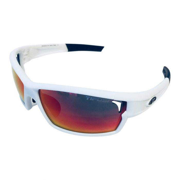 Tifosi Optics Camrock Sunglasses - Matte White - Clarion Red + XTRA Lens Sets